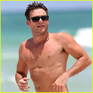 Scott Eastwood Hits the Beach After Date with Adriana Lima