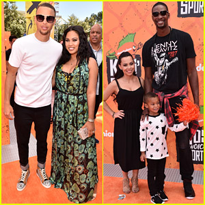 Stephen Curry & Chris Bosh Bring Families to Kids' Choice Sports Awards 2016