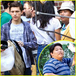 Tom Holland Spotted on 'Spider-Man' Set with Jacob Batalon