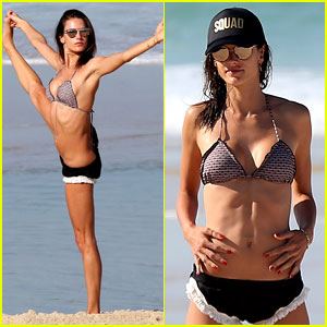 Alessandra Ambrosio Teaches Portuguese to Olympic Athletes!