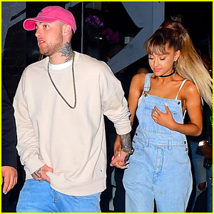 Ariana Grande & Mac Miller Pack on the PDA!