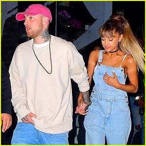 Ariana Grande & Boyfriend Mac Miller Hold Hands at VMAs Party