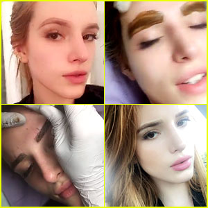 Bella Thorne Tattooed Her Eyebrows & Documented the Procedure on Snapchat!
