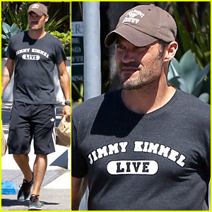 Brian Austin Green Picks Up Food for His Family