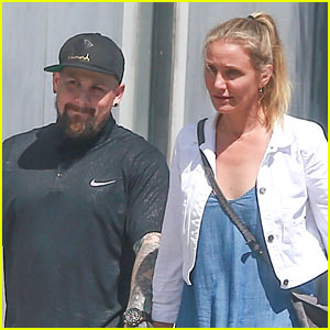 Cameron Diaz & Benji Madden Go Furniture Shopping!