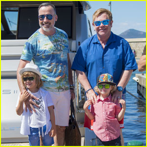 Elton John & David Furnish Vacation With Their Children in St. Tropez