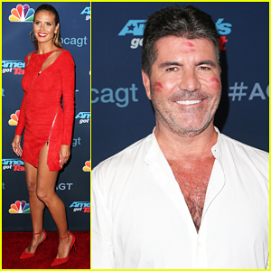 Heidi Klum Covers Simon Cowell In Kisses At 'America's Got Talent' Semi-Finals!