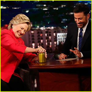 Hillary Clinton Proves She's Healthy, Reads Donald Trump Quotes Without Laughing on 'Kimmel' (Videos)