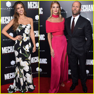 Jessica Alba & Jason Statham Premiere 'Mechanic: Resurrection'