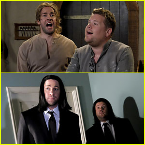 John Krasinski & James Corden Recreate Famous Movie Scenes - Watch Now!