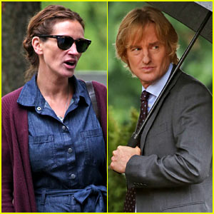 Julia Roberts & Owen Wilson Film New Scenes on the Set of 'Wonder'