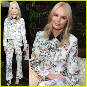 Kate Bosworth Looks Super Chic in Floral at NYC Wine Event
