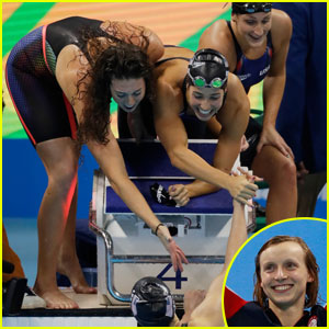 Katie Ledecky Leads Team U.S.A. to Gold in 4x200m Freestyle Relay at Rio Olympics 2016!