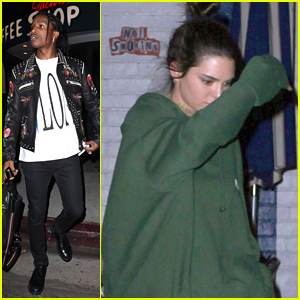 Kendall Jenner Grabs Dinner With A$AP Rocky & Hailey Baldwin