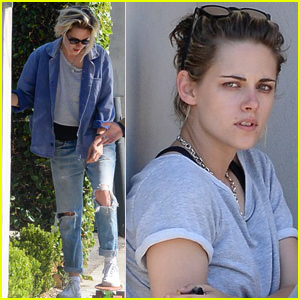 Kristen Stewart Skateboards Around LA