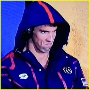 Michael Phelps' Super Intense Game Face is Hilarious