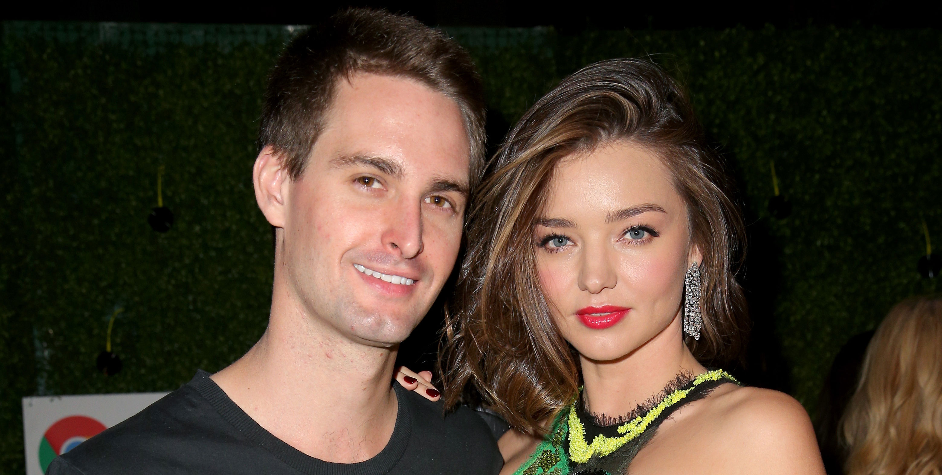 Miranda Kerr & Evan Spiegel Pose in Wedding s for Vogue