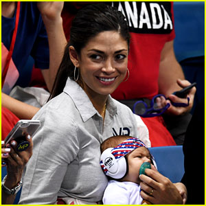 Nicole Johnson & Baby Boomer Have Been Supporting Michael Phelps at Olympics Events!