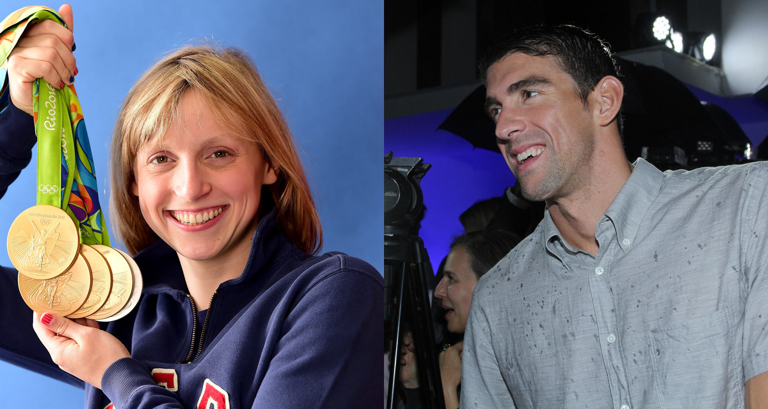 Michael Phelps & Katie Ledecky Recreated Famous Autograph Photo from 10 Years Ago