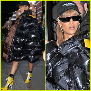 Swell Rihanna Wears Puffy Over Sized Coat For Shopping In London Hairstyles For Women Draintrainus