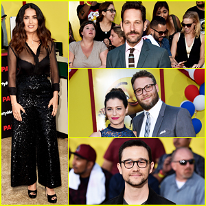 Salma Hayek, Seth Rogen & Paul Rudd Have Star-Studded 'Sausage Party' Premiere!