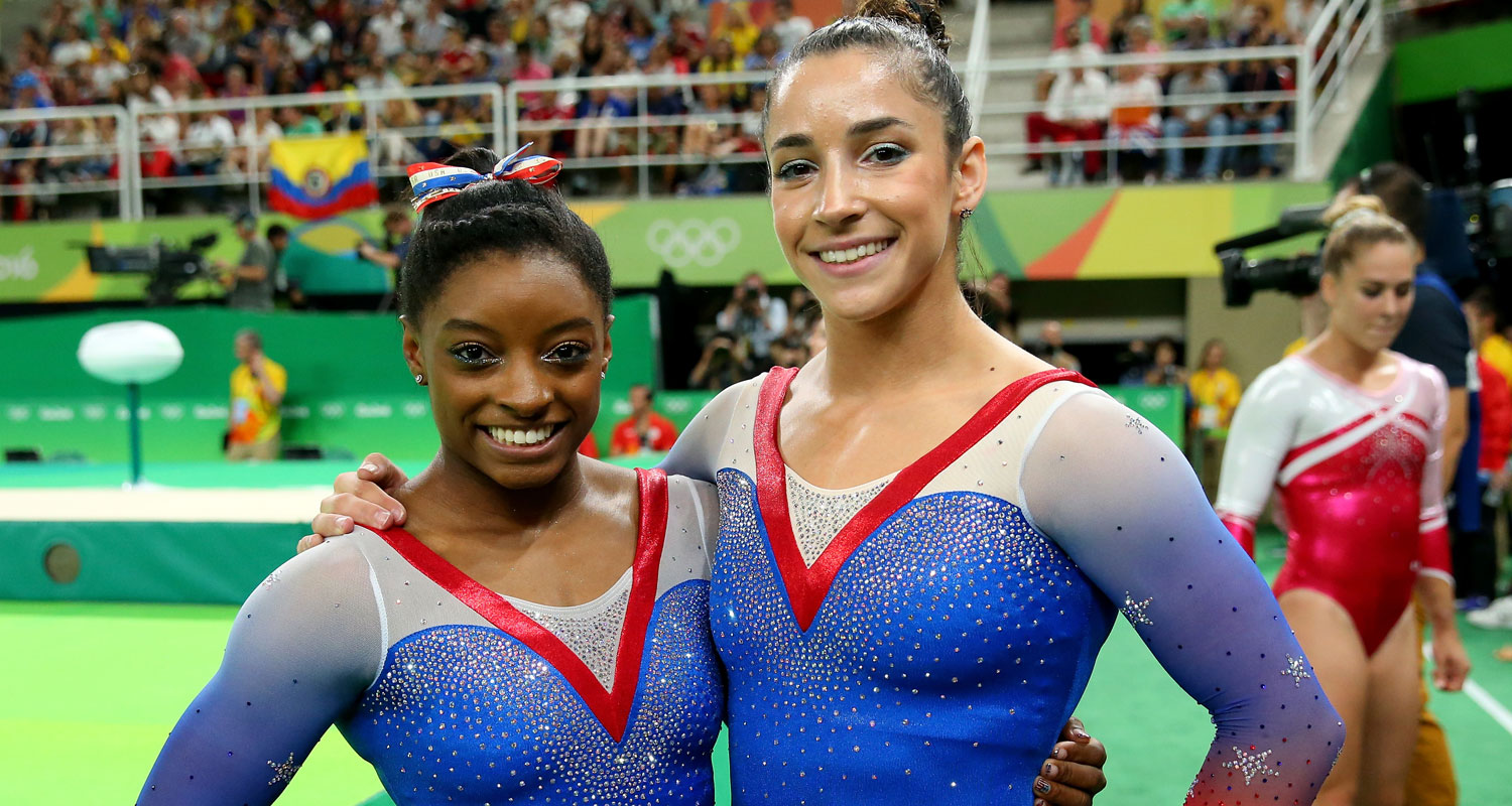 Simone Biles Amp Aly Raisman Take Gold Amp Silver In