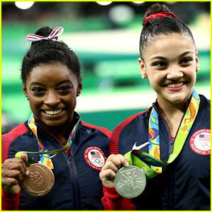 Laurie Hernandez & Simone Biles Win Silver, Bronze for Balance Beam at Rio 2016!