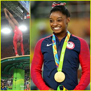 Simone Biles Wins Third Gold Medal on Vault at Rio Olympics
