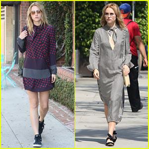 Suki Waterhouse Has a Stylish Day in Beverly Hills