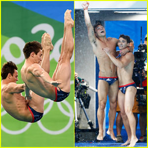 Tom Daley Celebrates Bronze Win in Men's Diving with Teammate Daniel Goodfellow!