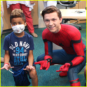 Tom Holland Visits Children's Hospital Dressed as Spider-Man!
