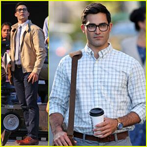 Tyler Hoechlin Debuts Clark Kent Look on 'Supergirl' Set!