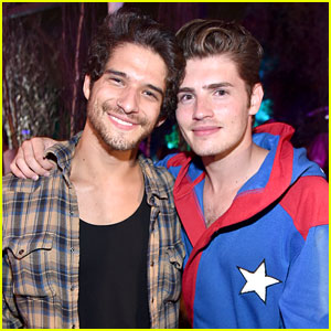 Tyler Posey & Gregg Sulkin Party at Playboy Mansion