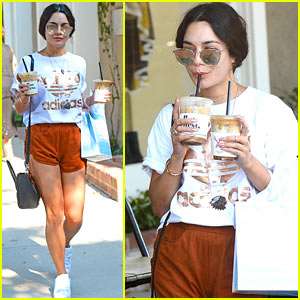 Vanessa Hudgens Fuels Up with Coffee Before Hitting Up LA's Rain Room