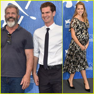 Andrew Garfield & Teresa Palmer Step Out for 'Hacksaw Ridge' Photo Call in Venice