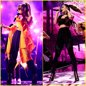 Ariana Grande & Hailee Steinfeld Perform at iHeartRadio Music Festival with Zedd