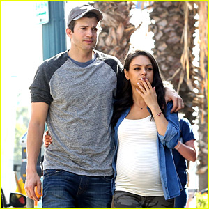 Ashton Kutcher & Pregnant Mila Kunis Make a Cute Couple While Toy Shopping!