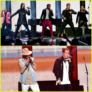 Backstreet Boys & Florida Georgia Line Hit iHeartRadio Music Festival 2016 Stage!