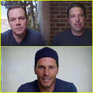 Ben Affleck & Matt Damon Fight for Tom Brady's Friendship in Funny Charity Video!