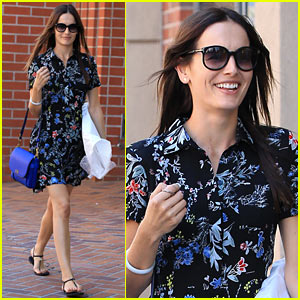 Camilla Belle Looks Flawless in Floral While Out & About in Beverly Hills