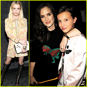 Stranger Things' Winona Ryder & Millie Bobby Brown Reunite at Coach NYFW Show!