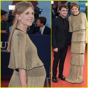 'Harry Potter' Alum Clemence Poesy Debuts Baby Bump While Honoring Daniel Radcliffe