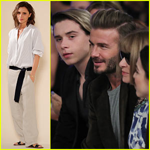 David & Brooklyn Beckham Hit NYFW to Support Mom & Wife Victoria