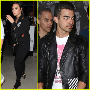 Demi Lovato Hits Up a Birthday Party With Joe Jonas