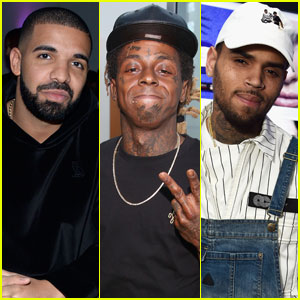 Drake & Chris Brown Show Support for a 'Defeated' Lil Wayne