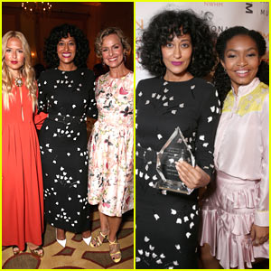 Tracee Ellis Ross Honored by On-Screen Daughter Yara Shahidi at Women Making History Brunch