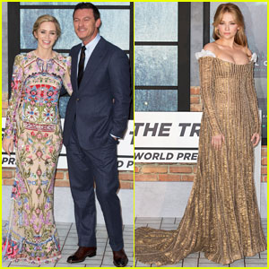 Emily Blunt & Luke Evans Premiere 'Girl on the Train' in London