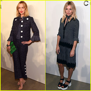 Emily Blunt & Sienna Miller Are So Chic for Michael Kors NYFW Show