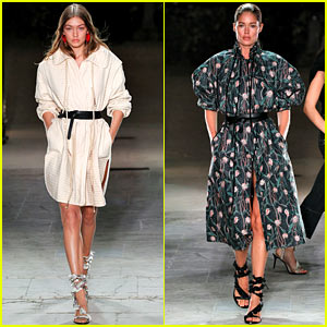 Gigi Hadid & Doutzen Kroes Hit the Runway for the Isabel Marant Paris Fashion Show