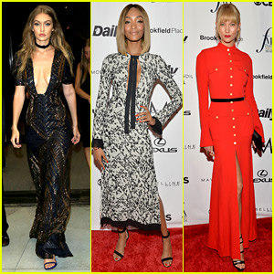 Gigi Hadid Glams Up at Daily Front Row Awards with Jourdan Dunn & Karlie Kloss!